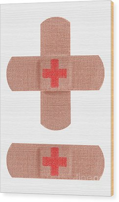 Red Cross Bandages Wood Print by Blink Images