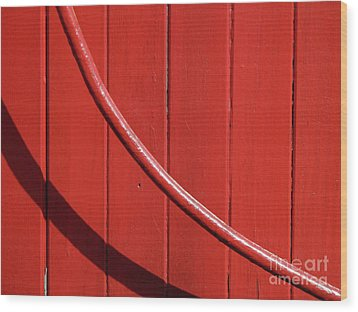 Wood Print featuring the photograph Red Curve by Newel Hunter