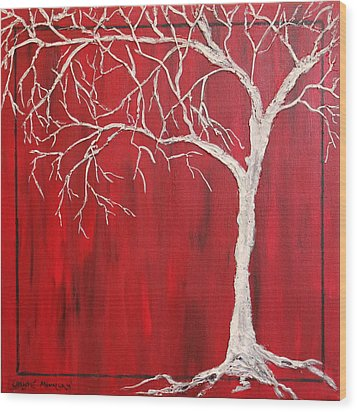Red Dawn Wood Print by Christie Minalga