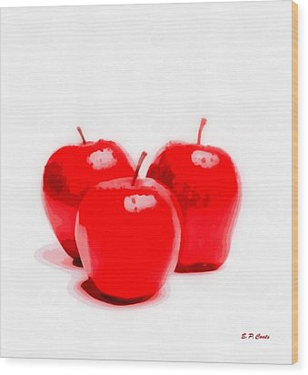 Red Delicious Apples Wood Print by Elizabeth Coats