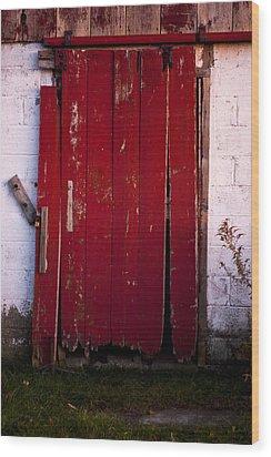 Red Door Wood Print by Cale Best