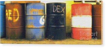Red Dye Blue Dye Black Dye We Die Wood Print by Joe Jake Pratt