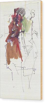 RED Wood Print by Ertan Aktas
