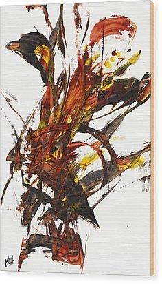 Red Flame II 65.121410 Wood Print