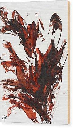 Red Flame IIi 64.121410 Wood Print