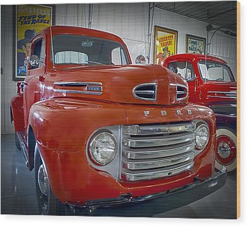 Wood Print featuring the photograph Red Ford Pickup by Steve Benefiel