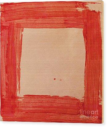 Red Frame   Wood Print by Igor Kislev