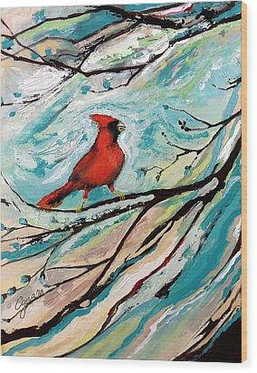 Red Fury Wood Print by Cynara Shelton