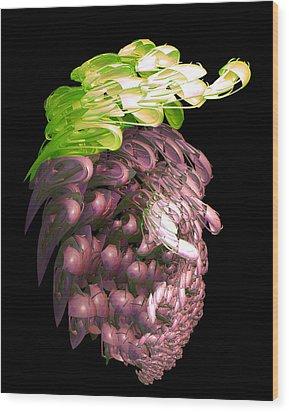 Red Grapes Wood Print by Linda Phelps