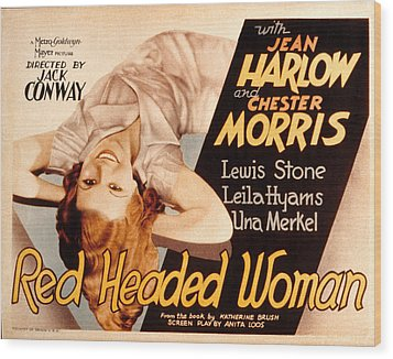 Red-headed Woman, Jean Harlow, 1932 Wood Print by Everett