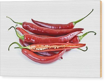 Red Hot Chili Peppers Wood Print by Elena Elisseeva