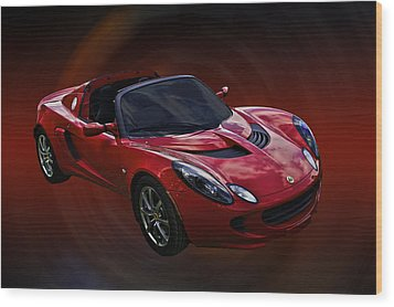 Red Hot Elise Wood Print by Mike  Capone
