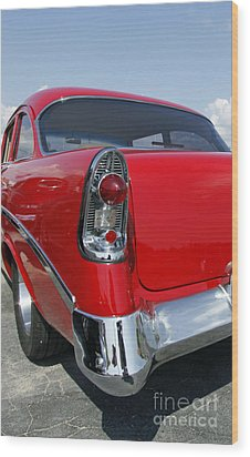 Wood Print featuring the photograph Red Hot Rod by Denise Pohl