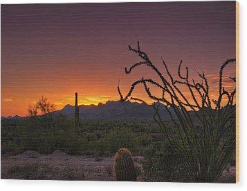 Red Hot Sunset  Wood Print by Saija  Lehtonen