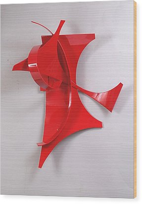 Red Incident Wood Print by Mac Worthington