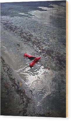 Red Is Swimming Wood Print by Joana Kruse