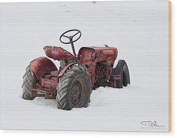 Red Wood Print by Joshua Gillum