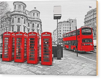Wood Print featuring the photograph Red London by Luciano Mortula