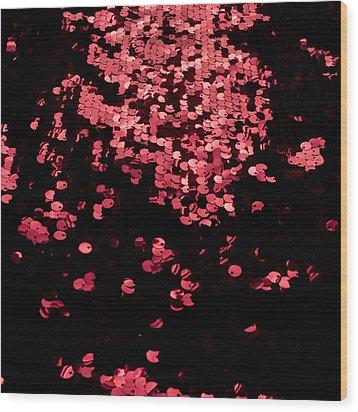 Red Metal Rings Wood Print by Gunay Mutlu