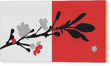 Red One Wood Print by Nomi Elboim