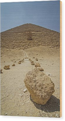 Red Path Of Red Pyramid Wood Print by © Marc Mateos