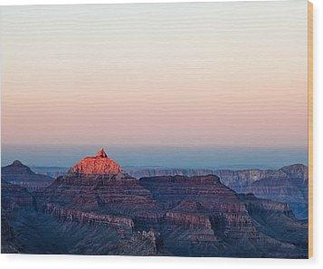 Red Peak Wood Print by Dave Bowman