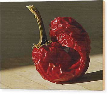 Wood Print featuring the photograph Red Pepper by Joe Schofield