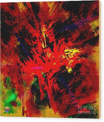 Red Planet Wood Print by Vidka Art