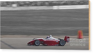 Red Racer Wood Print by Darcy Michaelchuk