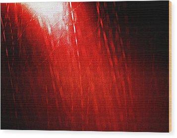 Red Rain 2 Wood Print by Sandro Ramani