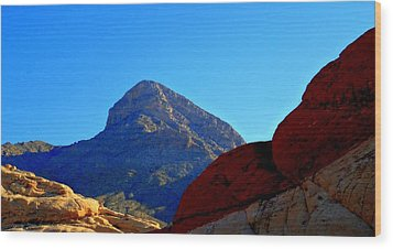 Red Rock Canyon 24 Wood Print by Randall Weidner