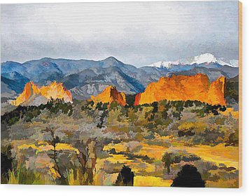 Wood Print featuring the digital art Red Rock Country by Brian Davis