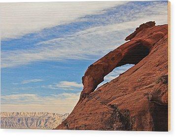 Red Rock  Wood Print by Kaye Seaboch