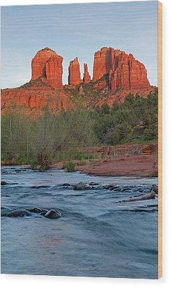 Red Rock Sunset Wood Print by Sandy Sisti