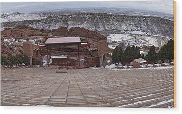 Red Rocks Amphitheatre Wood Print by Bill Kennedy