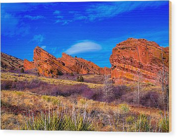 Red Rocks Park Colorado Wood Print by David Patterson
