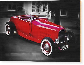 Red Rod Wood Print by Phil 'motography' Clark