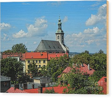 Red Roofed Wonders Wood Print by Mariola Bitner