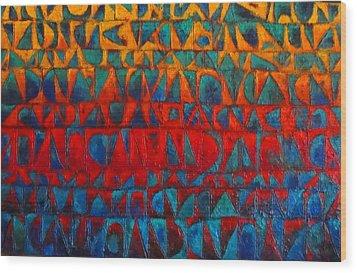 Red Sails At Sunset II Wood Print by Bernard Goodman