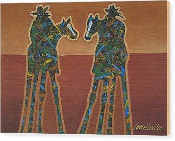 Red Sand Wood Print by Lance Headlee