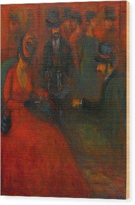 Red Soiree  Wood Print