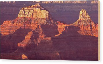 Wood Print featuring the photograph Red Stones At Sunset Grand Canyon by Rima Biswas