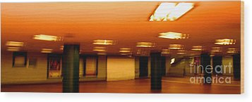 Wood Print featuring the photograph Red Subway by Andy Prendy