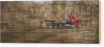 Red Truck In North Carolina Wood Print by Jim Moore