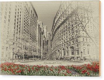 Red Tulips Wood Print by Svetlana Sewell