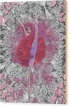 Red Tutu Wood Print by Cynthia Sorensen