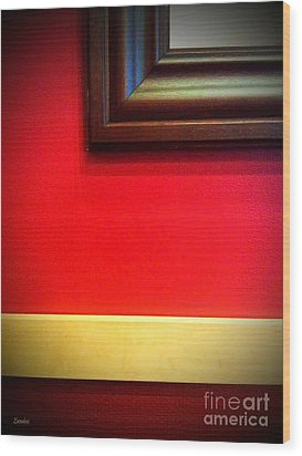 Red Wall Wood Print