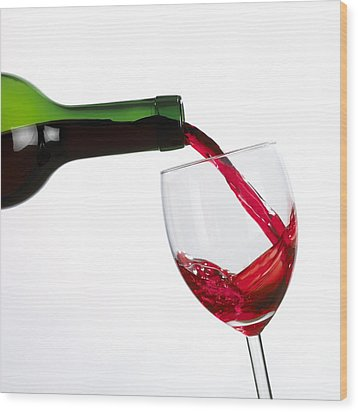 Red Wine Wood Print by Mark Sykes