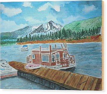 Redfish Lake Wood Print by Don L Williams
