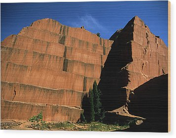 Redrocks Stone Quarry Wood Print by John Brink